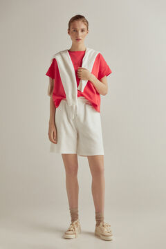 Pedro del Hierro Oversize ribbed neck t-shirt Red