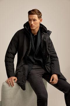 Pedro del Hierro Chaquetón con capucha Negro