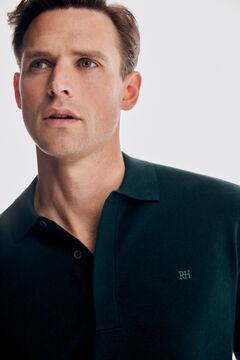 Pedro del Hierro Merino polo shirt jumper Green