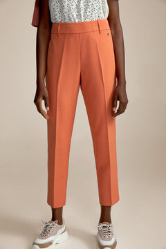 Pedro del Hierro Side zip trousers Red