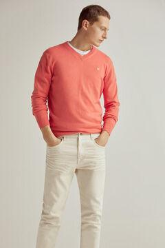 Pedro del Hierro V-neck jumper Red