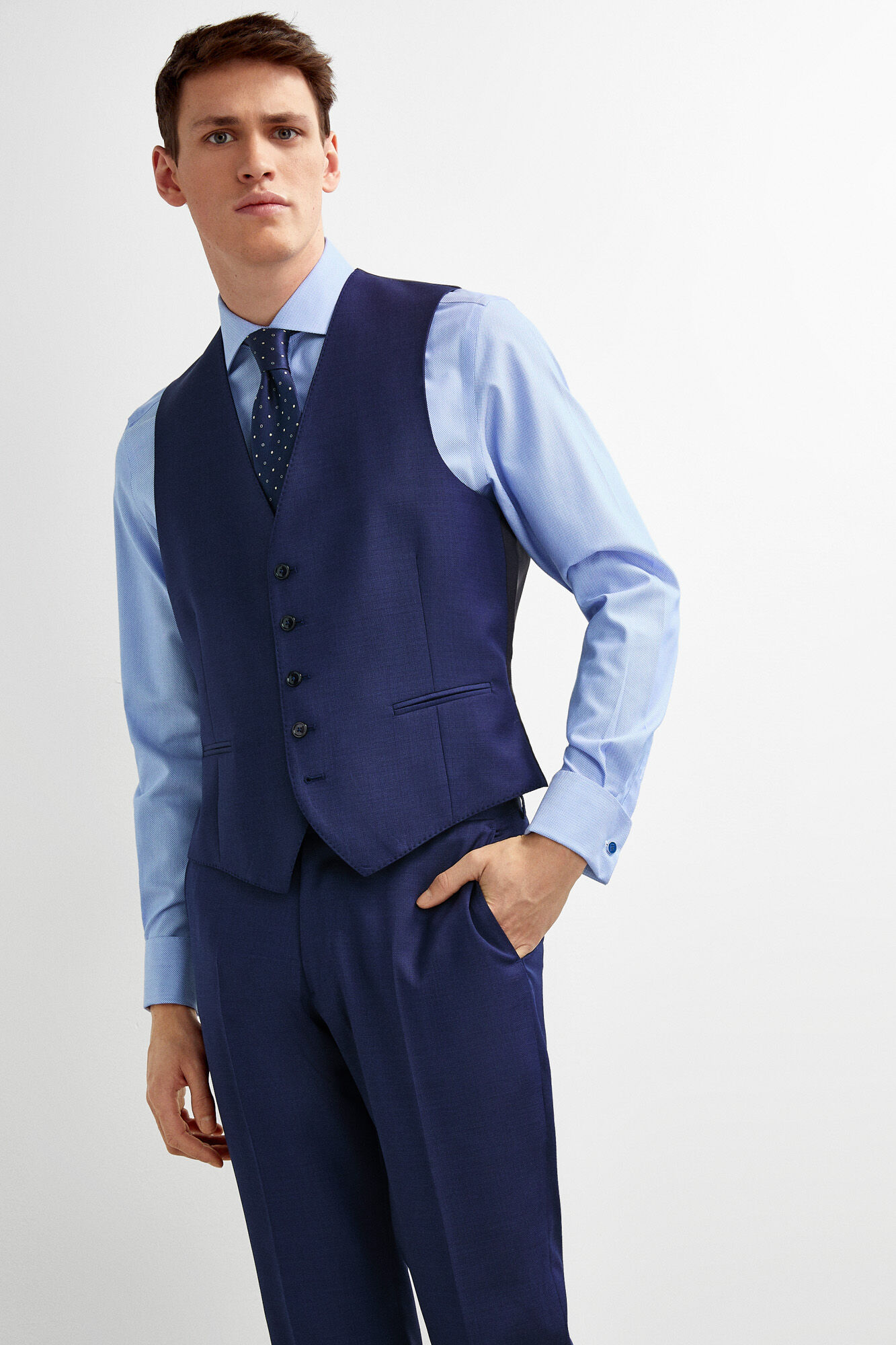 b106ee21a4 Chaleco traje azul tailored fit