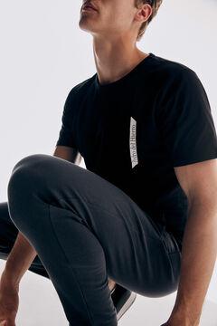 Pedro del Hierro Technical short-sleeved t-shirt Black