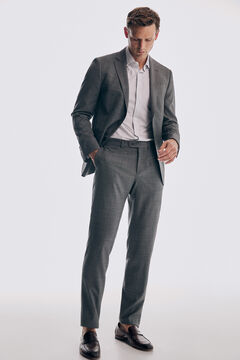 Pedro del Hierro Grey slim fit bi-stretch trousers Grey