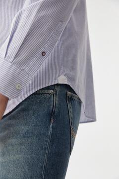 Pedro del Hierro Iconic striped Oxford shirt Blue