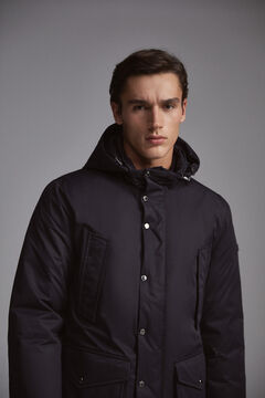 Pedro del Hierro Short parka with removable lining Blue