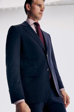 Pedro del Hierro Tailored fit striped blazer Blue