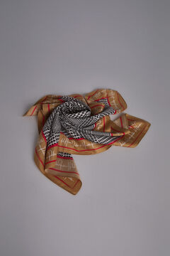 Pedro del Hierro Logo print scarf Black