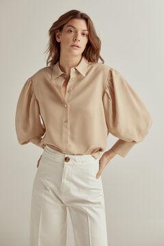 Pedro del Hierro Tencel linen shirt blouse Beige