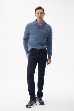 Pedro del Hierro Slim fit coloured Cashmere Touch 5-pocket jeans Blue