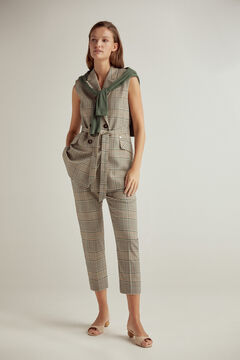 Pedro del Hierro Crossover checkered vest Green