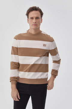Pedro del Hierro Striped sweatshirt Beige