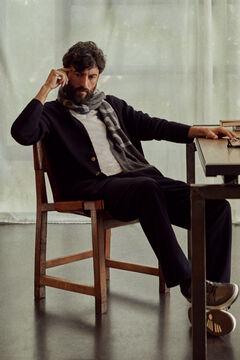 Pedro del Hierro Cotton blazer Blue