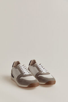 Pedro del Hierro Leather rubber-soled sneakers White