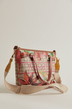 Pedro del Hierro Tote bag with Logos and floral drawing Red