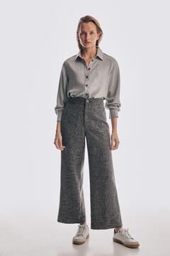 Pedro del Hierro Fluid viyella blouse Grey