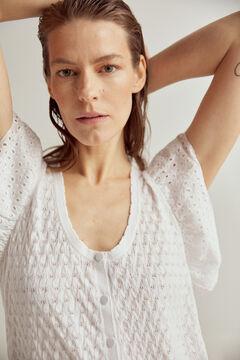 Pedro del Hierro Jersey-knit V-neck top Beige