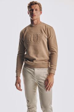 Pedro del Hierro Relief logo sweatshirt Beige