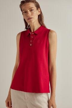 Pedro del Hierro Sleeveless polo shirt Red