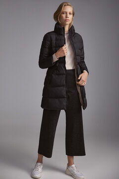 Pedro del Hierro Long belted parka Black