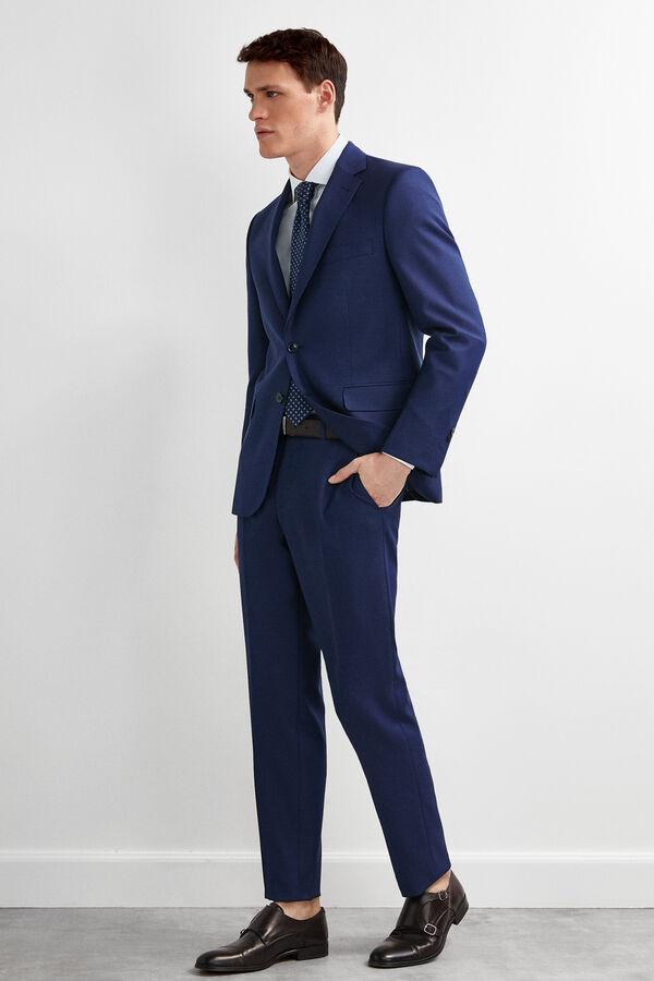 aed409c66f Pedro del Hierro Americana traje ojo perdiz tailored fit Azul