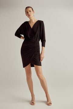 Pedro del Hierro Japanese sleeve dress Black