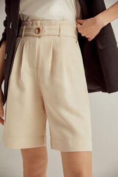 Pedro del Hierro Paperbag Bermuda shorts Brown