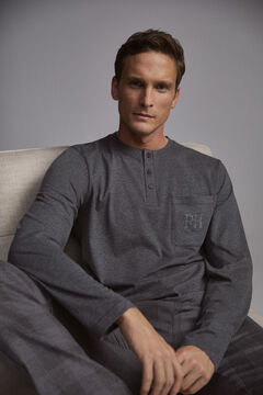 Pedro del Hierro Checked pyjamas Grey