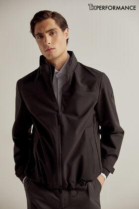 Pedro del Hierro Laser cut technical jacket Black