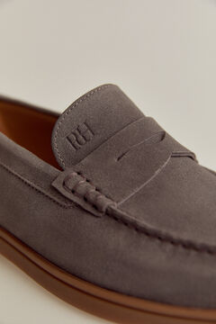 Pedro del Hierro Rubber sole loafer Grey