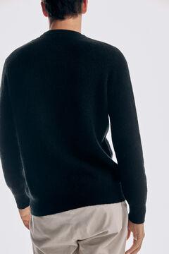 Pedro del Hierro Purl knit crew neck jumper Black