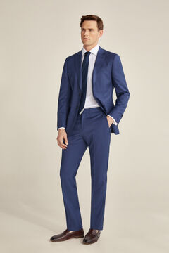 Pedro del Hierro Slim fit grey-blue trousers Blue
