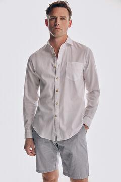 Pedro del Hierro Camisa estructura algodón orgánico White