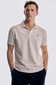Pedro del Hierro Basic short sleeve polo shirt Ecru
