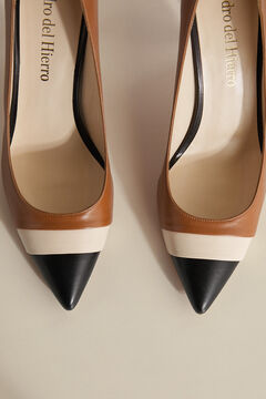 Pedro del Hierro Double tip court shoe Beige