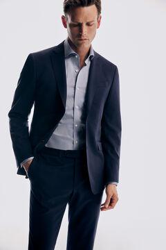 Pedro del Hierro Blue slim fit bi-stretch blazer Blue