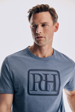 Pedro del Hierro Logo short sleeve t-shirt Burgundy