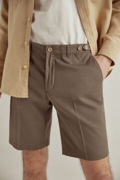Pedro del Hierro False plain textured Bermuda shorts Green