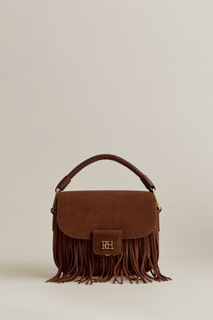 Pedro del Hierro Suede leather shoulder bag Brown