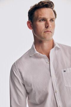 Pedro del Hierro Camisa lisa de Seersucker algodón White
