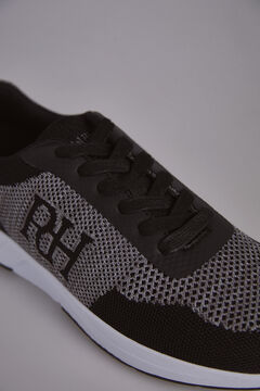 Pedro del Hierro Leather rubber-soled sneakers Black