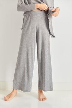 Pedro del Hierro Jersey-knit embroidered logo culottes Grey