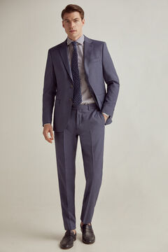 Pedro del Hierro Tailored fit birdseye trousers Blue