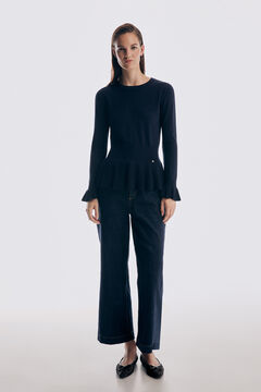 Pedro del Hierro Jumper with flounce detail Blue
