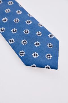 Pedro del Hierro Geometric print tie Blue
