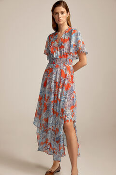 Pedro del Hierro Long printed dress Red