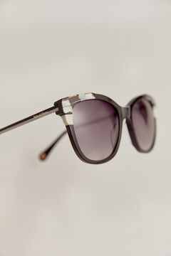 Pedro del Hierro Black and white tortoiseshell sunglasses Black