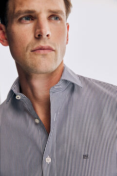Pedro del Hierro Striped Travel Collection shirt Blue