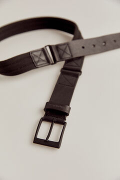Pedro del Hierro Nylon urban belt Black