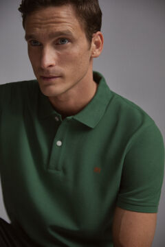 Pedro del Hierro Short-sleeved PdH logo polo shirt Green